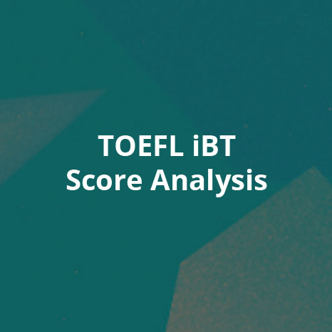 TOEFL iBT Score Analysis
